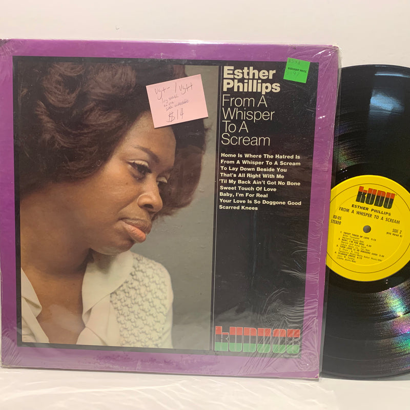 Esther Phillips- From A Whisper TO A Scream- Kudu Soul Jazz LP- VG+-/VG++