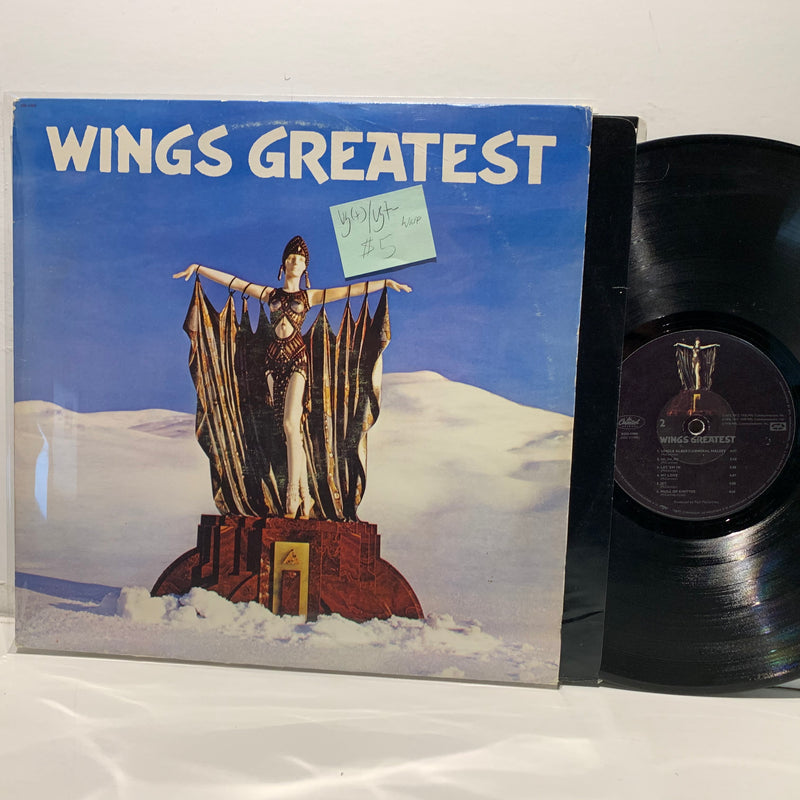 Wings Greatest Hits- Capitol LP- VG(+)/VG+-