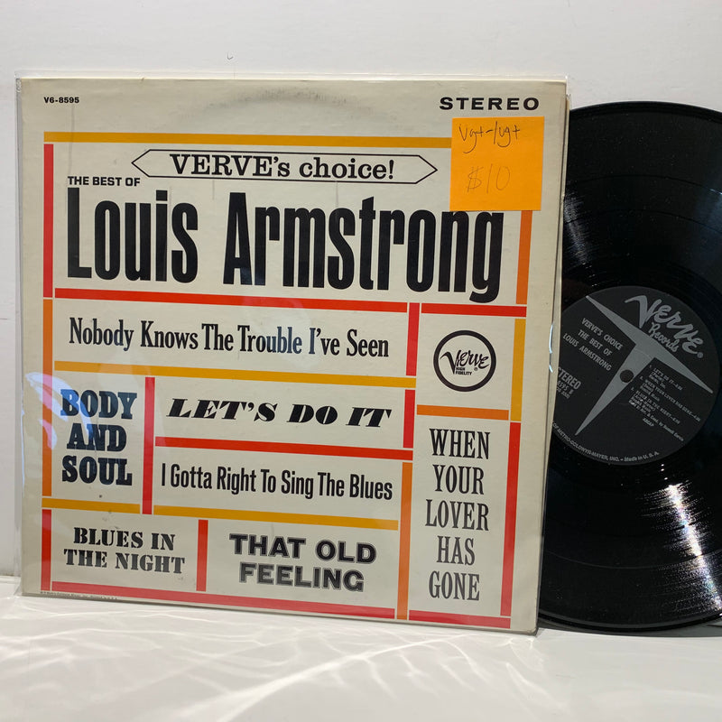 Verve's Choice The Best Of Louis Armstrong- Verve Jazz LP Comp- VG+-/VG+