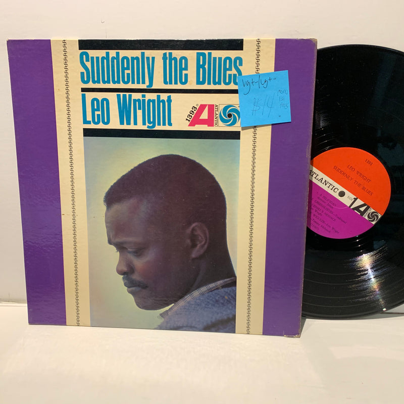 Leo Wright- Suddenly The Blues- Atlantic Mono Jazz LP 1st Press- VG+-/VG+-