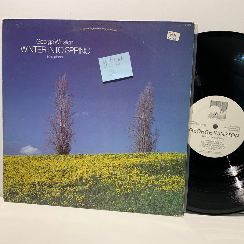 George Winston- Winter Into Spring- Windham Hill Jazz Solo LP- VG++/VG+