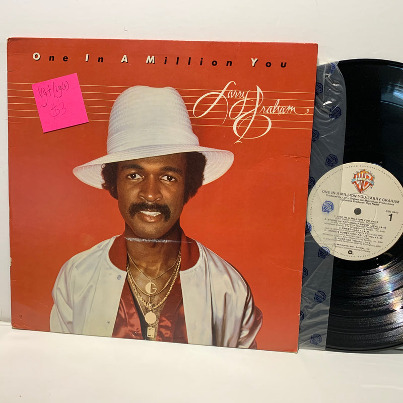 Larry Graham- One In A Million- Warner Bros Soul LP- VG+/VG(+)