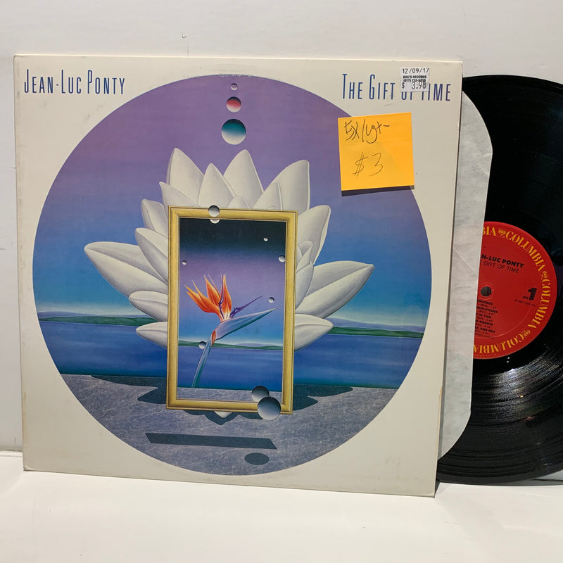 Jean Luc Ponty- The Gift Of Time- Columbia Jazz Fusion LP- EX/VG+-
