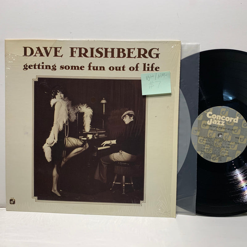 Dave Frishberg- Getting Some Fun Out Of Life- Concord Jazz LP- VG++/NM-