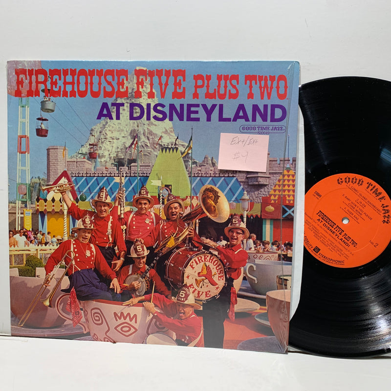 Firehouse Five Plus Two- At Disneyland- Good Time Jazz LP- EX+/EX+
