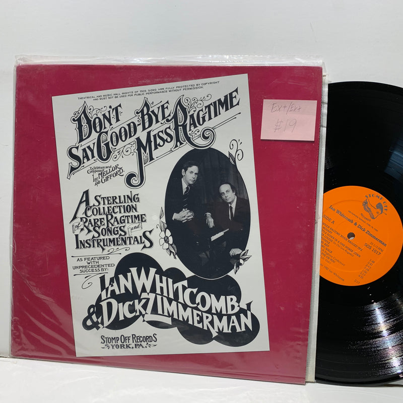 Ian Whitcomb Dick Zimmerman- Don't Say Goodbye Miss Ragtime- Stomp Off Jazz LP