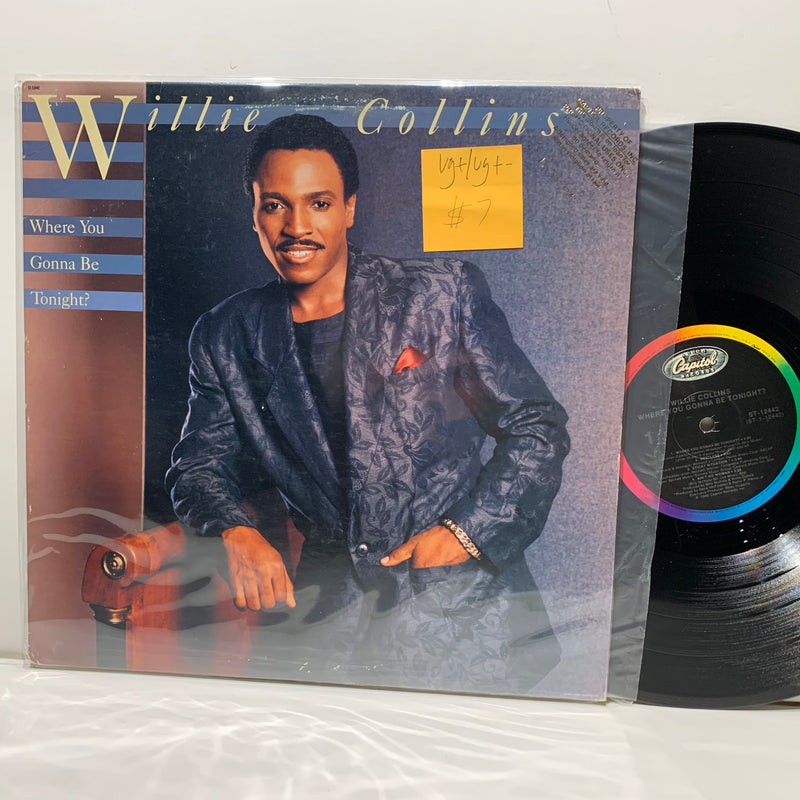 Willie Collins- Where You Gonna Be Tonight- Capitol Soul LP- VG+/VG+-