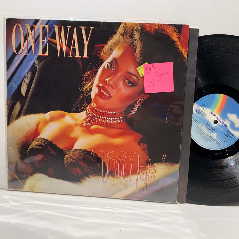 One Way- Wild Night- MCA Records Disco Funk German Press LP- VG/VG
