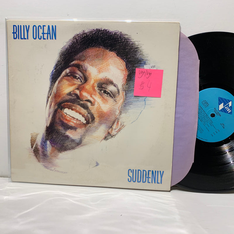 Billy Ocean- Suddenly- Jive Soul LP- VG+/VG+