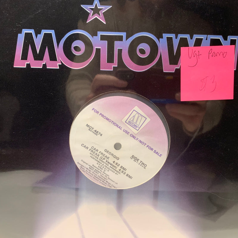 "Georgio Allentini- Car Freak- Motown Electronic Funk Promo 12"" Single VG+"