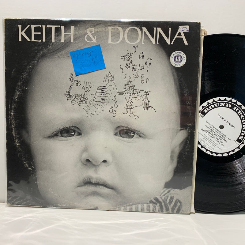 Keith & Donna- Round Records Blues Rock LP- VG++/G++