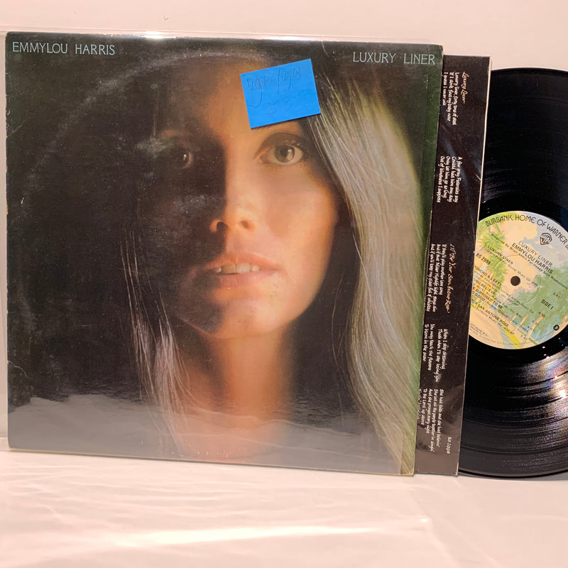 Emmylou Harris- Luxury Liner- Warner Bros Country Folk LP- VG+-/VG(+)