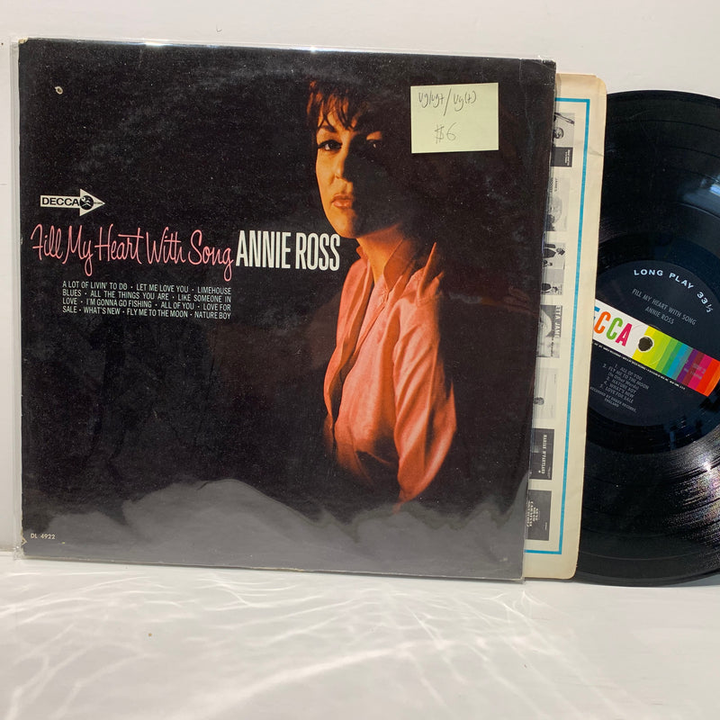 Annie Ross- Fill My Heart With Song- Decca Pop Vocal LP- VG+/VG /VG(+)