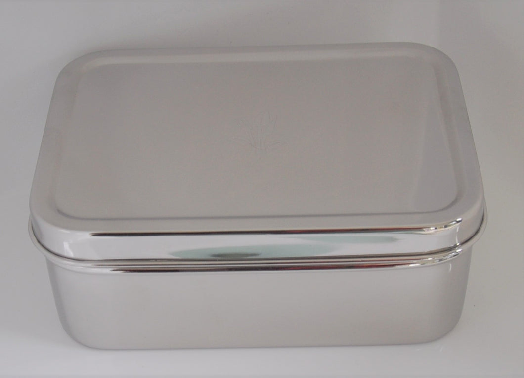 Deep Rectangle Stainless Steel Lunch Box