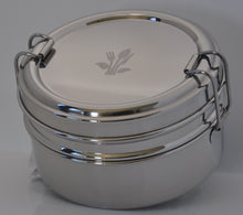 Load image into Gallery viewer, Round Double Tribento Stainless Steel Lunch Box