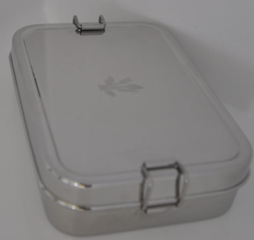 Rectangle Stainless Steel Lunch Box with a pod