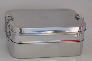 Three in One Classic Stainless Steel Lunch Box