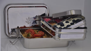 Three in one Giant Stainless Steel Lunch Box