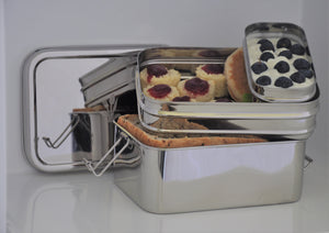 Deep Three in one Giant Stainless Steel Lunch Box
