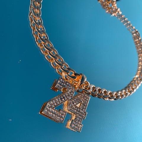 24 iced out chunky chain necklace