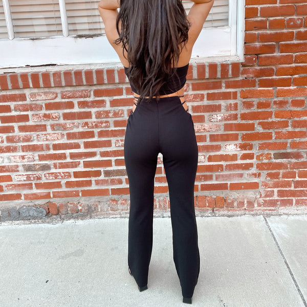 one & only cutout pants set