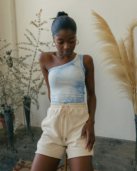 bermuda tye dye crop top