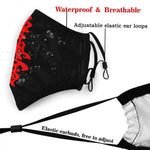 mask kyokushin karaté for protection, changeable filter big red kanji - karate kyokushin shop