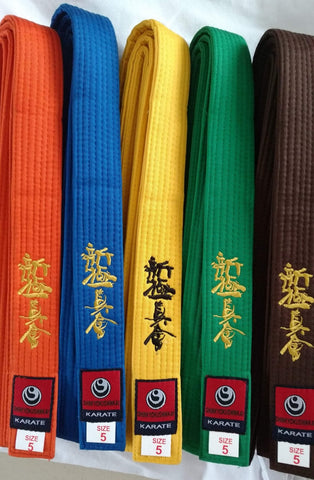 10 shinkyokushin karaté color belts - karate kyokushin shop