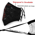 mask kyokushin karaté for protection, changeable filter writting kyokushin - kyokushin-shop