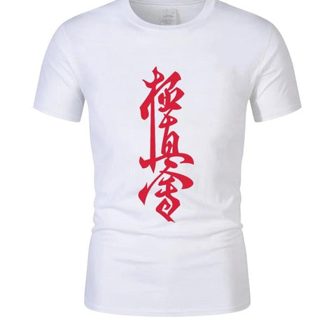 Kyokushin Karate Cotton T Shirt Men's Short Sleeve  custom fit - karate kyokushin shop
