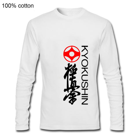 fashion Men Tshirt  Kyokushin Karate Long sleeves - karate kyokushin shop
