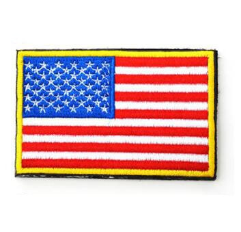 World Countries Patch Embroidery Applique Stripes - karate kyokushin shop