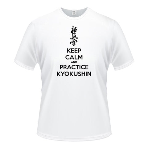 keep calm and practice kyokushin karate Men's Short Sleeve slim fit - karate kyokushin shop