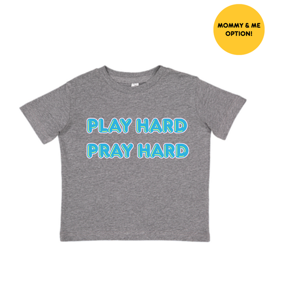 Play Hard Pray Hard Tee Kids Tee