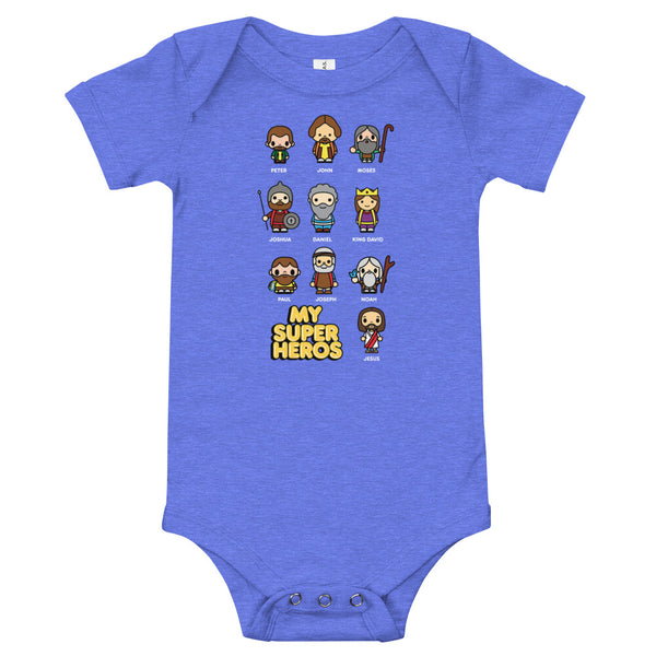 Bible bb's Superheroes Baby Onesie
