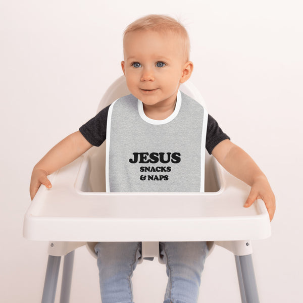 Bible bb's Jesus, Snacks & Naps Bib