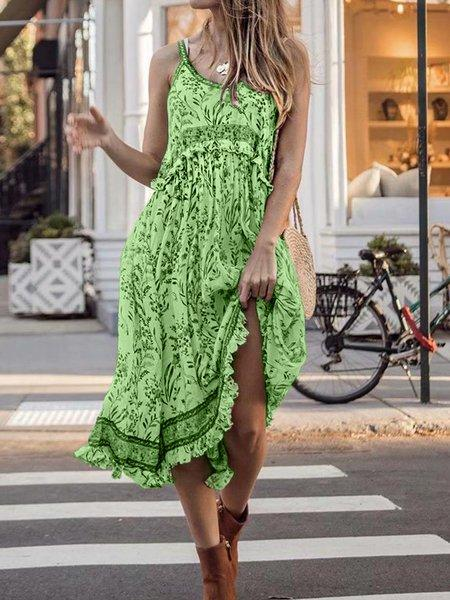 Cotton Short Sleeve Vacation Dresses