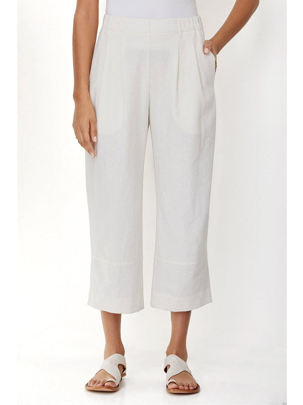 Relaxed fit Wide elastic waistband Side on-seam pockets Pant