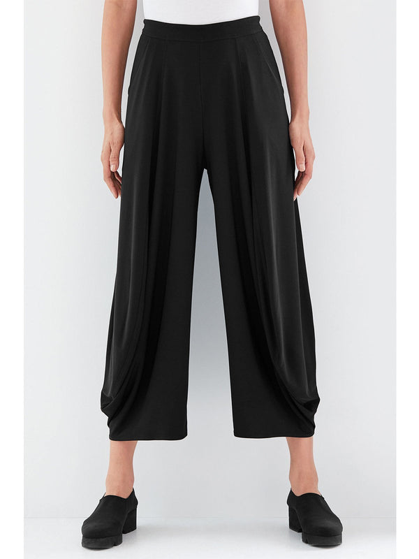 Relaxed fit Flattering Draped Leg Elastic Waistband Pants