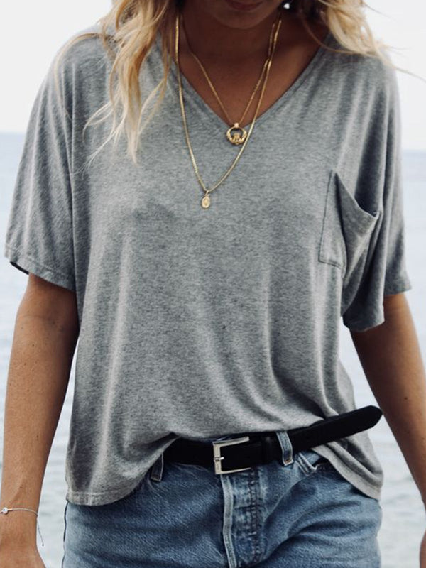 Women Summer Basic T Shirt Tops Tee  | elledress