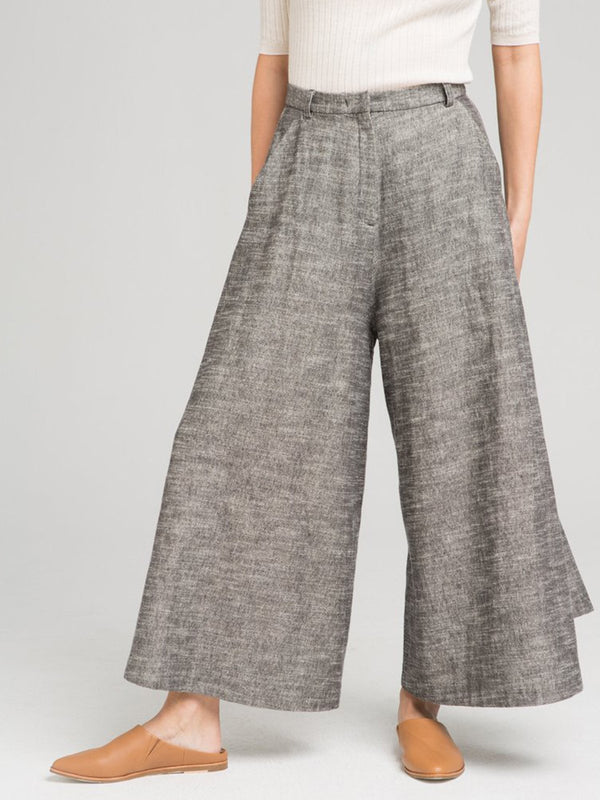 Relaxed Fit Wide Leg Calla Trousers Pants