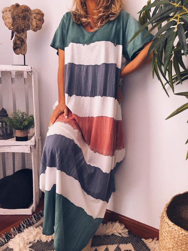 Women Casual Loose  Maxi Dress