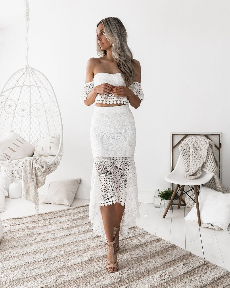 The Dress lace bra open-back pencil skirt two-piece Dress