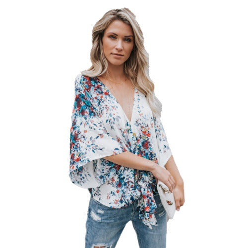 Women's Wear with Loose Printed Strap Jacket