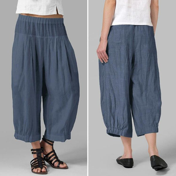 Flax nine-cent slacks