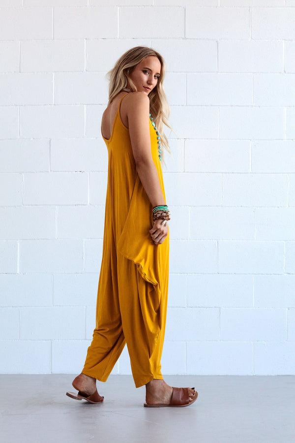 Yellow V Neck Sleeveless One-Pieces  | elledress