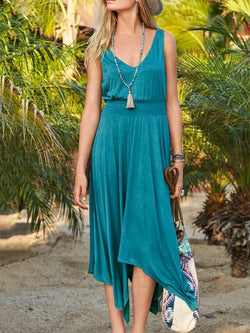 Asymmetrical Boho Cotton-Blend Dresses