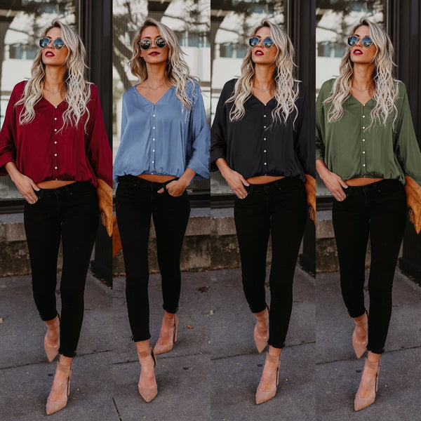 Loose casual large size Cotton Long Sleeve Shirt