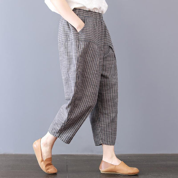 Casual cropped pants thin loose Harlan pants
