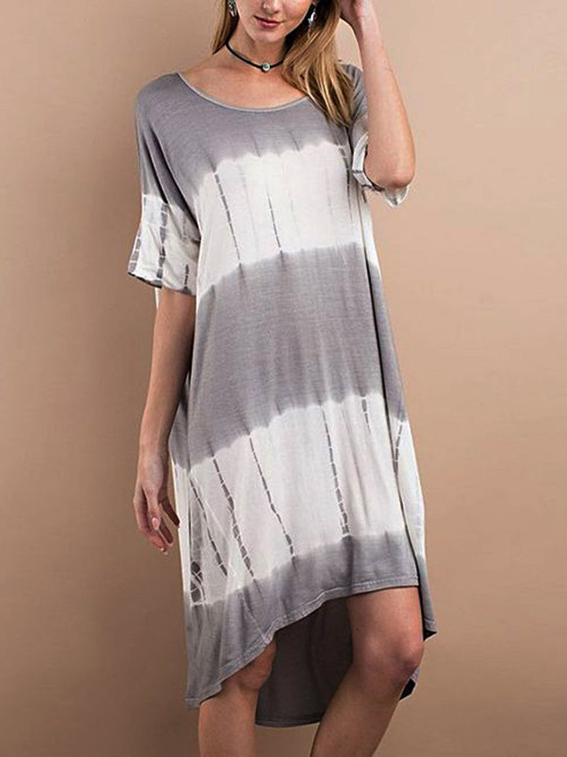 Short Sleeve Casual Plain Dresses  | elledress